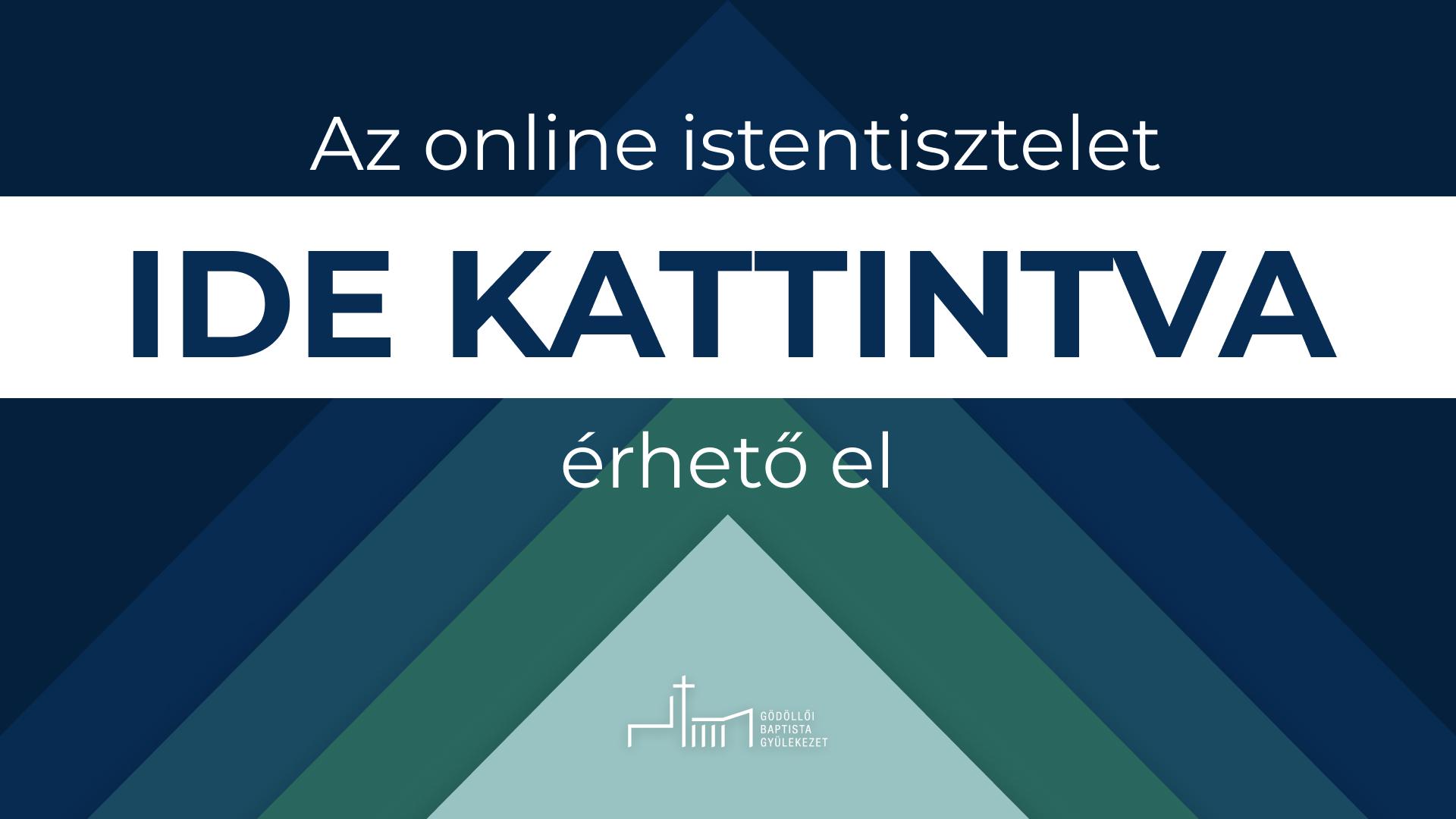 Online istentisztelet elérhetőség